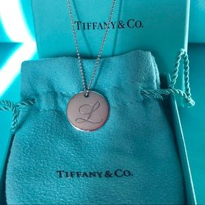 "Tiffany & Co. Silver Initial ""L"" Notes Necklace"